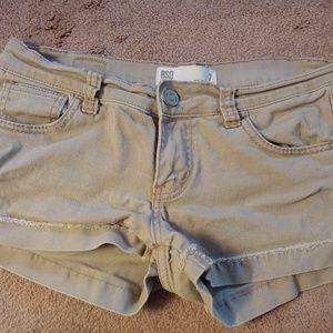 RSQ Malibu Cuff Jean Short Tan - size 7